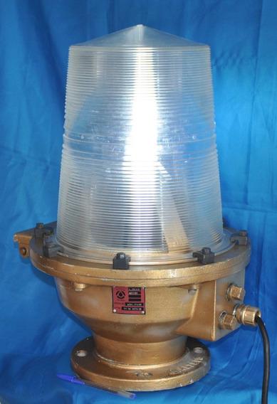 Lanterna Luminária Náutica Sinalizadora Antiga Terminal Petr