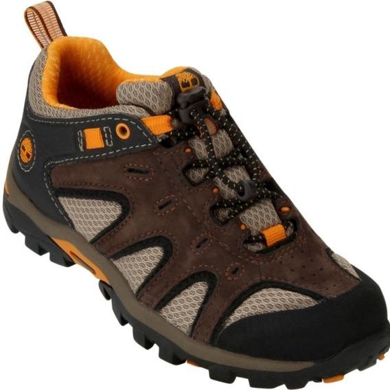 Tênis Infantil Timberland Hyper Trail Lace Ox Marrom/laranja