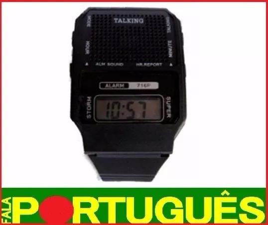 Relógio Idosos Deficiente Visual Fala Em Português Importado