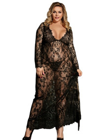 b49efc73cdfa00 Babydoll Sexy Lingerie Erótica Vestido De Renda Transparente