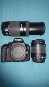 Camera Canon T5 + Lente 18-55mm + 55-250mm