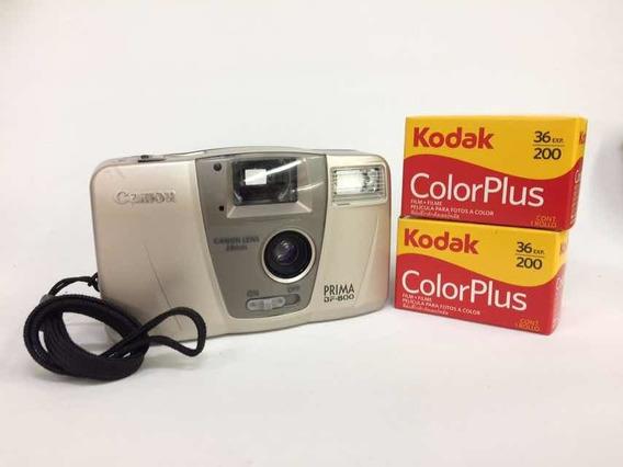 Câmera Canon Prisma Com Dois Filmes - Funcionando - Vintage