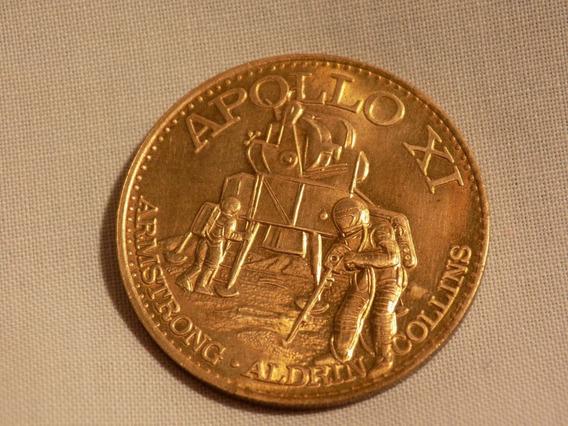 Usa Medalla Oficial Demision Espacial Apollo 11 1969 Bonce