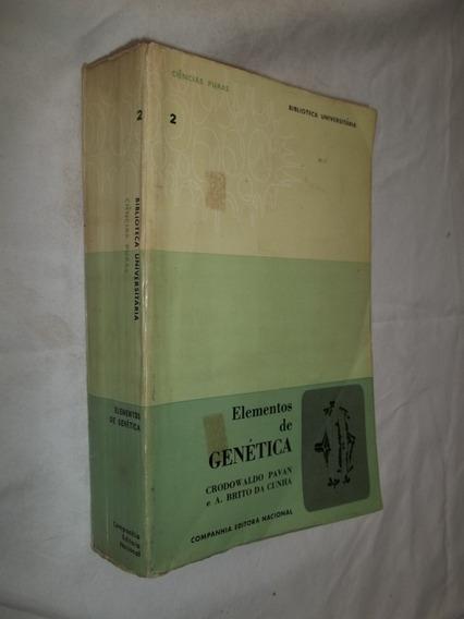 Livro - Elementos De Genética - Crodowaldo Pavan
