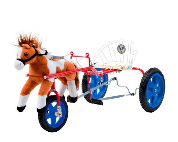 Karting Sulky Infantil A Pedal Caballo Con Riendas (679)