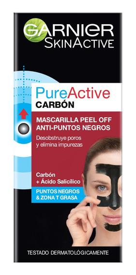Mascarilla Anti Puntos Negros Peel Off Carbón, Garnier
