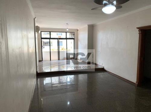 Apartamento Com 3 Dormitórios Para Alugar, 150 M² Por R$ 3.600,00/mês - Ponta Da Praia - Santos/sp - Ap7691