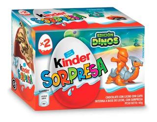 Chocolate Kinder Sorpresa Dinos X2 Huevos Golosinas Juguete