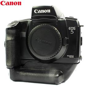 Câmera Canon Eos 5 Qd C/ Vertical Grip Reflex 35mm Analógica