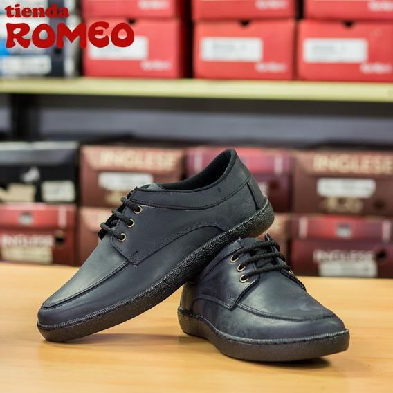Zapatos Pull Up De Caballero Color Negro