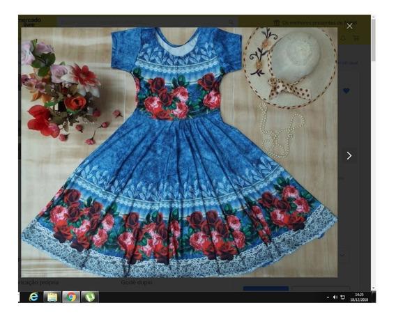 Vestido Moda Evangélica Midi Godê Duplo Princesa Boneca Roda