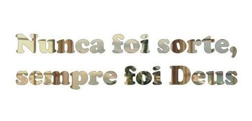 Espelho Acrílico Decorativo Frase De Deus 100x25 Cm