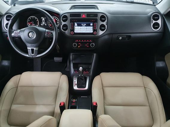 Volkswagen Vw Tiguan 2.0 16v Tsi 2011 Preto Interno Caramelo