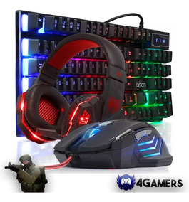 Kit Gamer Pc Barato - Mouse + Headset + Teclado Rgb Mecânico