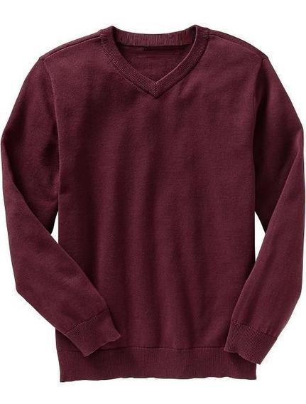 Sweater Pullover Hombre Liso Uniformes Caetano Factory