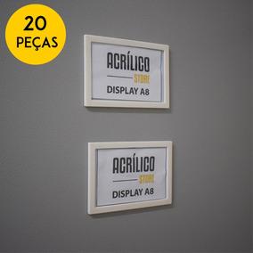 Display A8 Magnético Com Imã Kit 20 Unidades