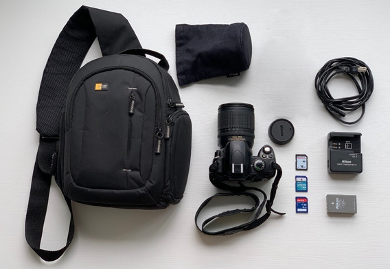 Camera Nikon D40x + Lente 18-135mm + Tripé