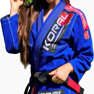 Kimono Jiu Jitsu Koral Mkm Harmonic Feminino