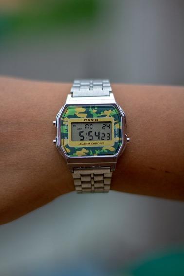 Promoção Relógio Cássio Vintage Prateado Unissex Pulso Retro
