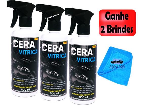 3 Unidades Cera Vitrica Película Protetora Automotiva *black