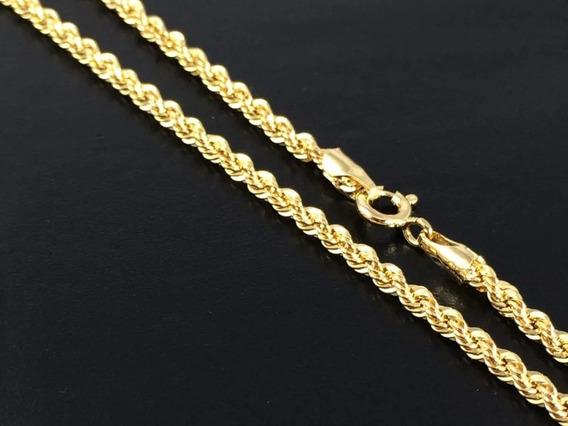 Colar Masculino 60cm Baiano Folheado A Ouro Garantia Barato