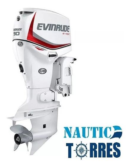 Evinrude E-tec 90 Hp 2 Tiempos Motor Fuera De Borda