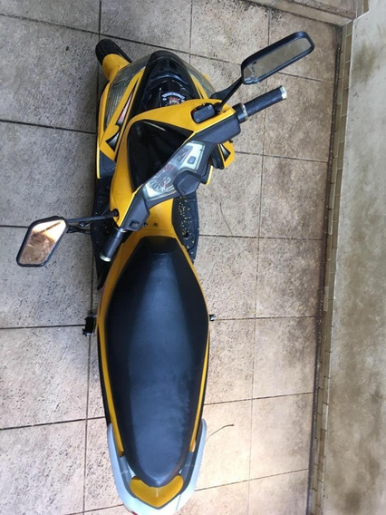 Scooter Eletrica Smart Cor Amarela Semi Nova