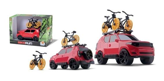 Suv Brinquedo Jeep Pickup Bicicleta No Teto Bike Run Compass