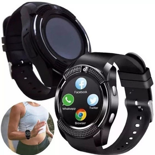 Relogio Inteligente Smartwatch V8 Ios Android Chip Whats Sms