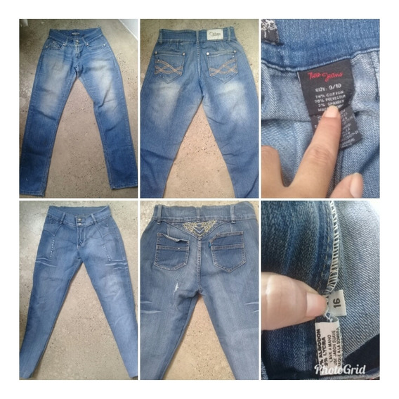 Jeans Dama Blue Jeans Pantalon De Vestir Dama Talla Plus
