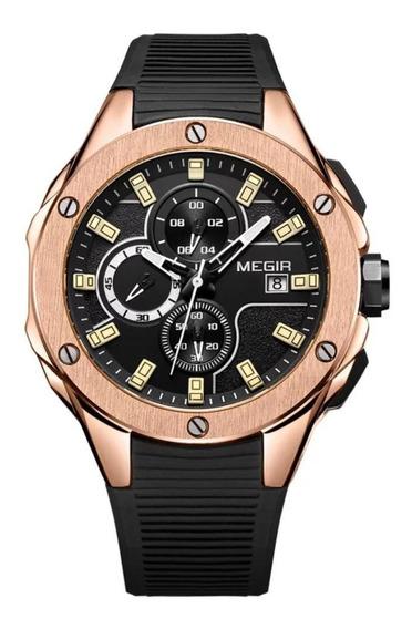 Relógio Megir 2053 Original A Prova D