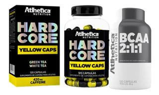 Combo Definição Hardcore Yellow Caps + Bcaa 2:1:1