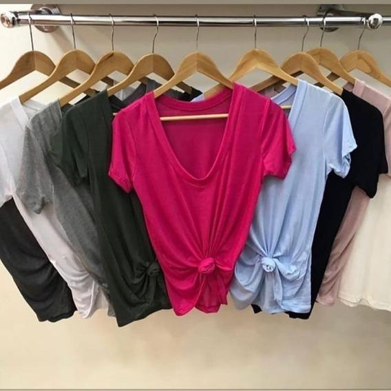 Blusa Camiseta Podrinha Feminina Manga Curta Blogueira