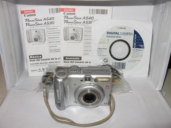 Câmera Canon A540 Liga Tira Foto Porém Imagem Escura