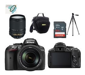 Nikon D5300 Com 18-140mm Vr + Bolsa+tripé+64gb Classe 10