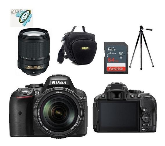 Nikon D5300 18-140mm Vr + Bolsa+tripé+64gb Nota Fiscal