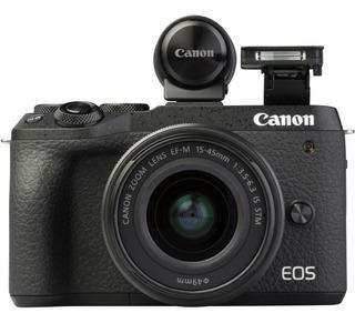 Camara Canon Eos M6 Mark Ii 15-45 Visor Evf-dc2 32 Megapixel