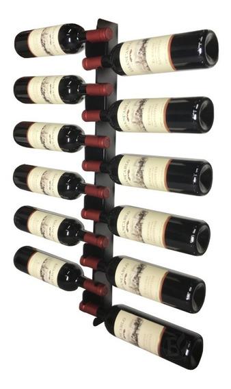 Adega Vertical Suporte Vinho Parede 12 Garrafas - Preto