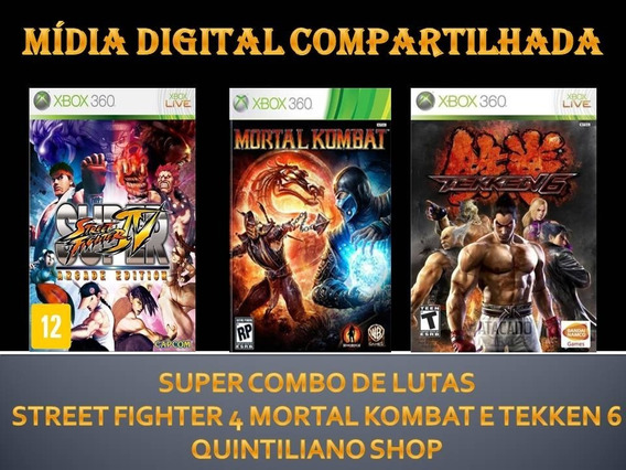 Street Fighter Iv Mortal Kombat Tekken 6 Xbox 360 Míd. Dig.
