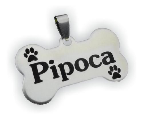 Placa Identificação Cães Qr Code - Aço Inox
