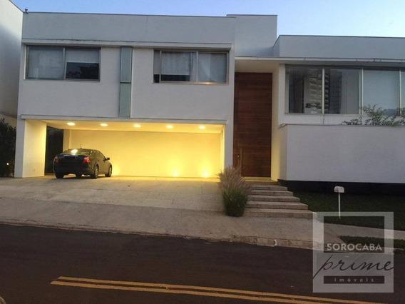 Sobrado Com 4 Dormitórios À Venda, 520 M² Por R$ 3.000.000 - Condomínio Sunset - Sorocaba-sp, Próximo Ao Shopping Iguatemi. - So0112