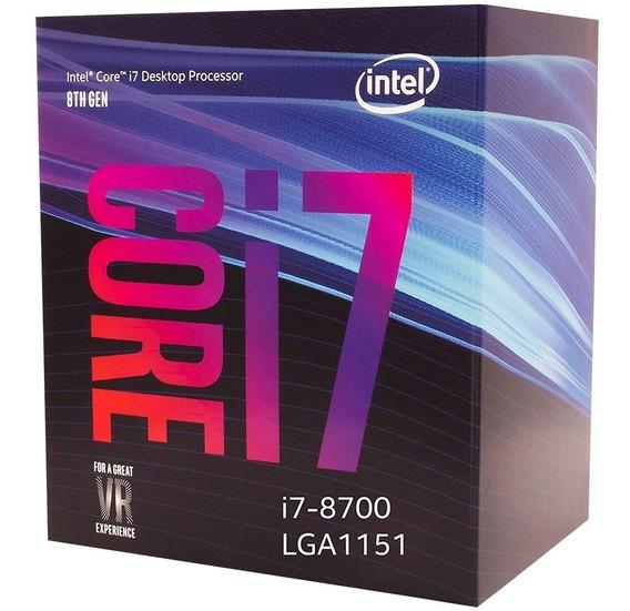 Processador Intel Core I7-8700 Cache 12mb, 3.2g, 4.6ghz Box