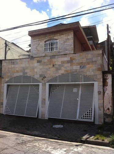 Imagem 1 de 16 de Sobrado À Venda, 3 Quartos, 4 Vagas, Palmares - Santo André/sp - 48016