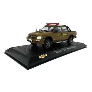 Miniatura Policia Militar Chevrolet S 10 Brigada Escala 1 43