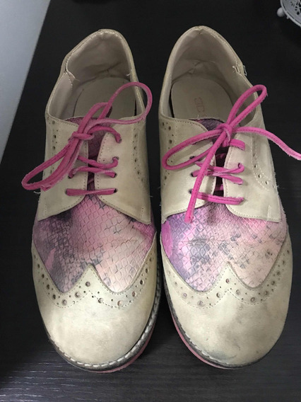 Zapato Mujer Acordonado Invierno Con Plataforma