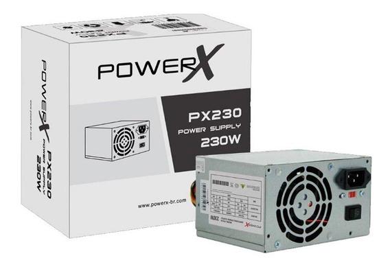Fonte Alimentação Atx Powerx 230w Px230 Real Cabo+caixa