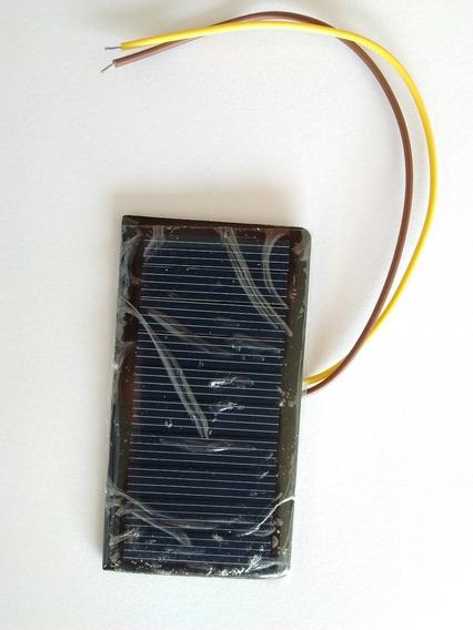 Mini Painel Placa Célula Solar Com Fio 5v 60ma 68x37mm 5pçs
