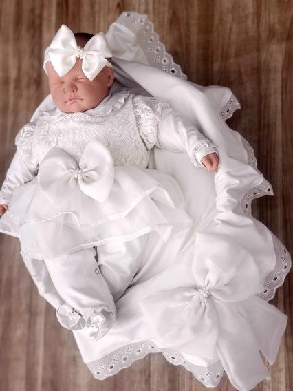 Saída Maternidade Menina Luxo Pérolas
