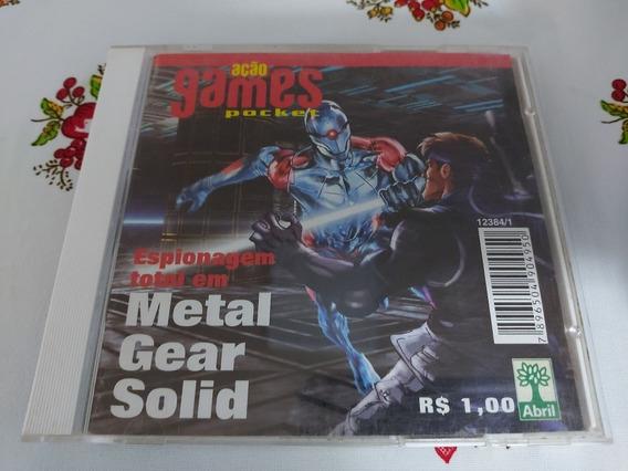 Metal Gear Solid Playstation Ps1 Patch Prensado Prata Us D2