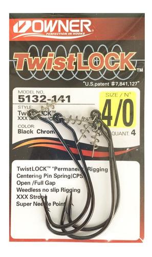 Imagen 1 de 10 de Anzuelo Offset Owner 5132-141 Twist Lock 4/0 Pesca Tarairas